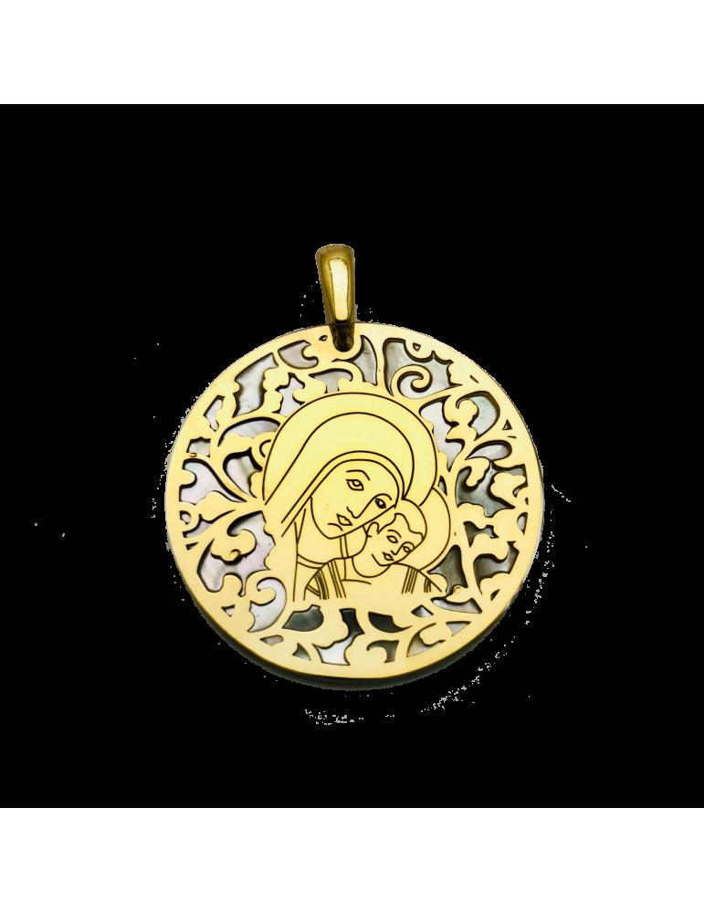 Medalla Virgen del Camino en plata de ley