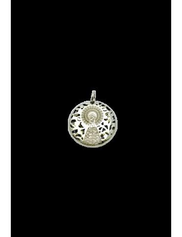 Medalla Virgen Pilar en Plata de Ley  20mm