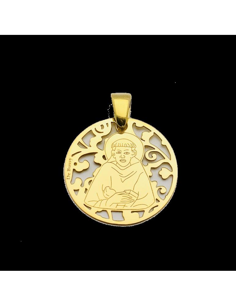 Medalla San Francisco de Asís en plata de ley