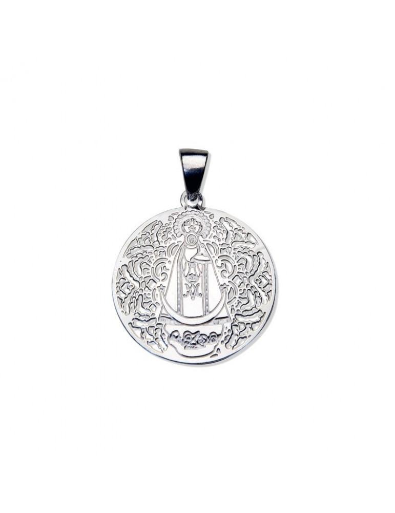 Medalla Virgen Llanos Plata ley 925m 25mm