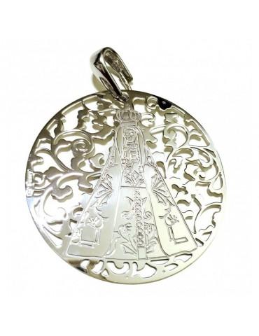 Medalla Virgen Nuestra Señora de Begoña Plata de Ley 40mm