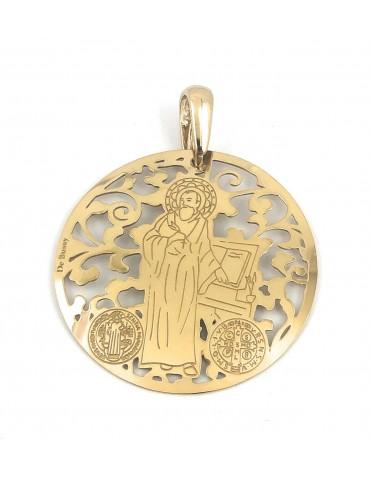 copy of Medalla San Benito en plata de ley cubierta de oro de 18kt