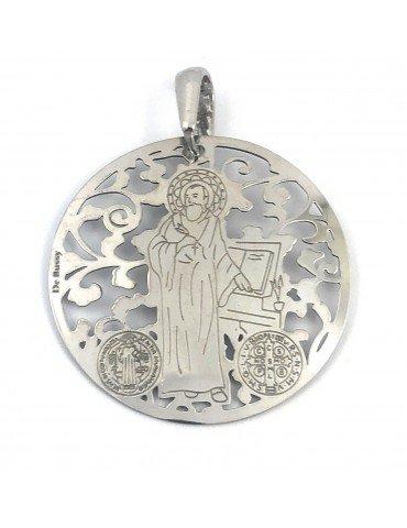 copy of Medalla San Benito en plata de ley