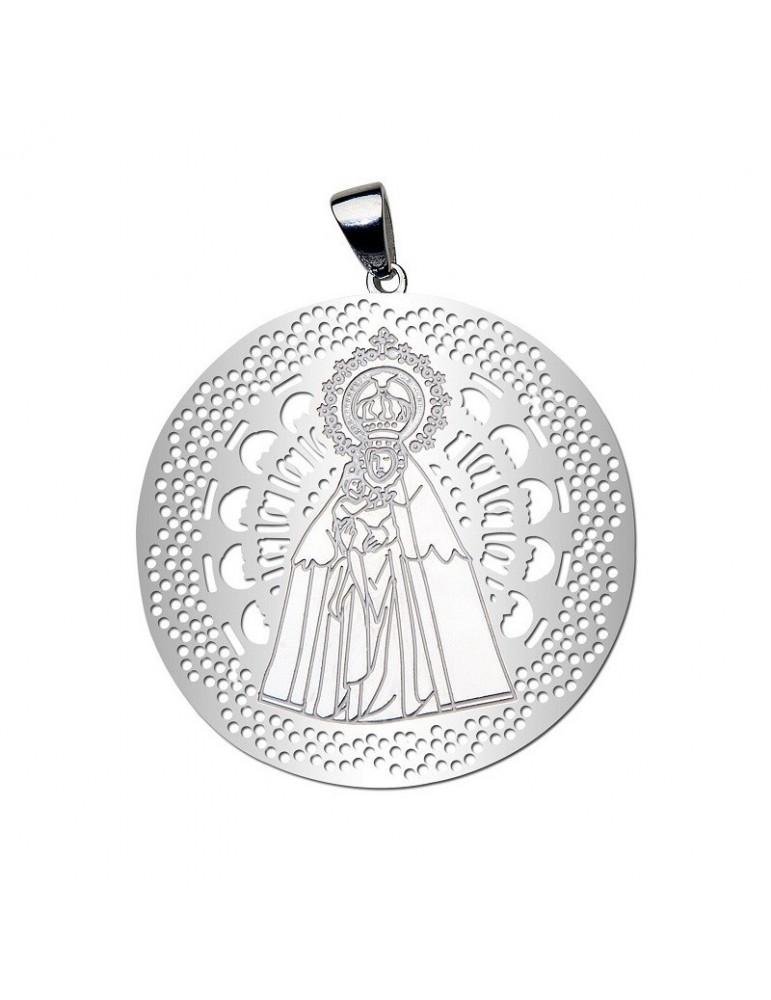 Medalla Virgen del Mar Plata Ley 925m