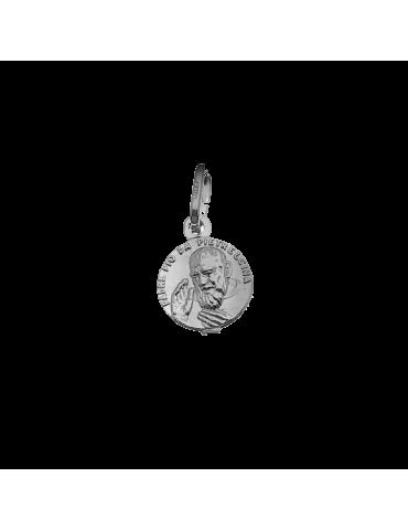 Medalla Padre Pio en plata...