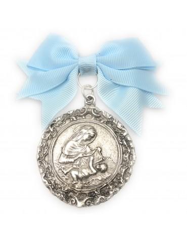 Medalla de cuna con baño de...