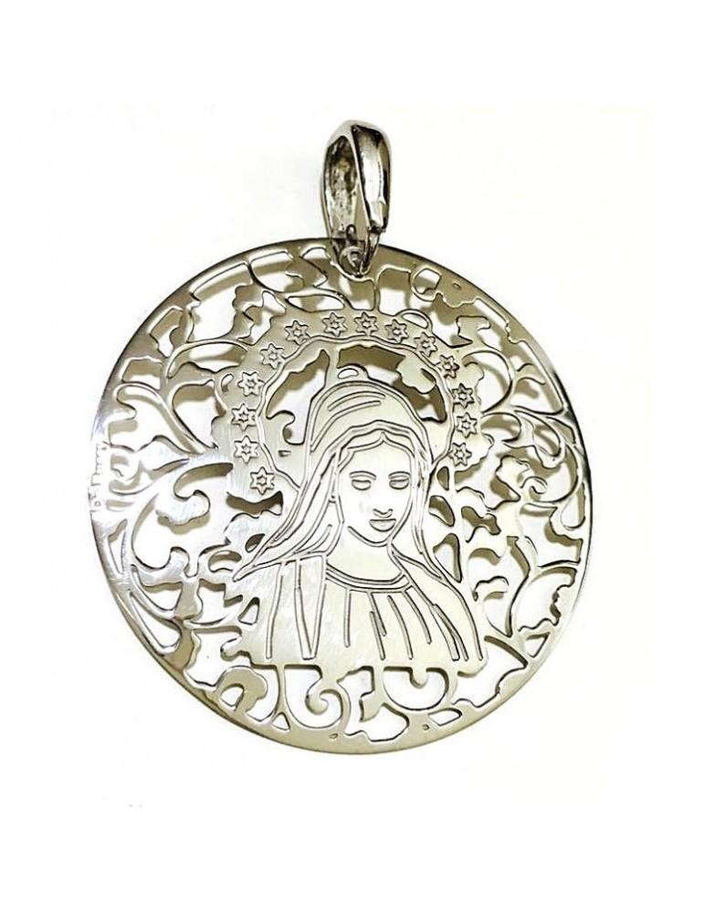 Medalla Virgen de Medjugorje plata de Ley 40mm