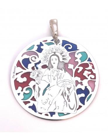 copy of Medalla Virgen Desamparados Plata Chapada en Oro 25mm