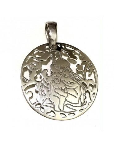 Medalla Virgen del Carmen plata de Ley 40mm