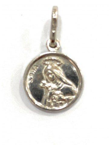 Medalla Santa Rita plata de...