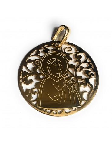 Medalla Santa Gema plata de...