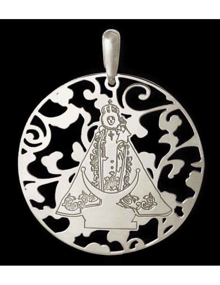 Medalla Virgen Fuensanta en Plata de Ley. 25mm