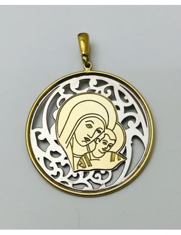 Medalla Virgen del Camino Neocatecumenal Plata y baño de Oro 40mm
