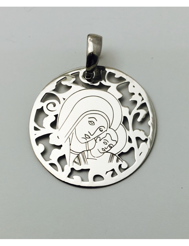 Medalla Virgen del Camino Neocatecumenal Plata ley 925m 25 mm