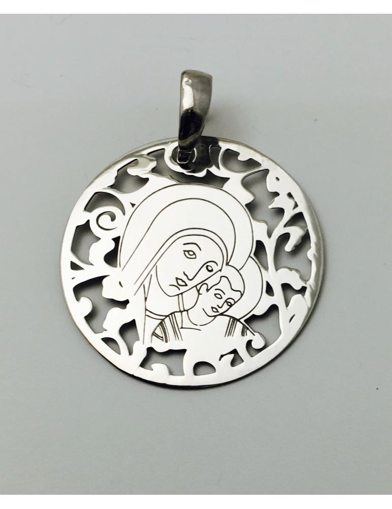 Medalla Virgen del Camino Plata ley 925m 25 mm