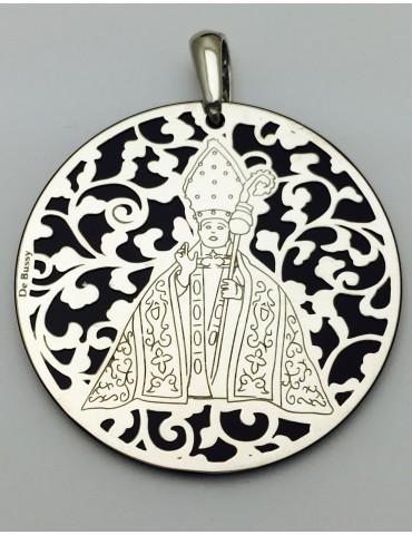 Medalla plata de ley San Fermín Onix 40mm
