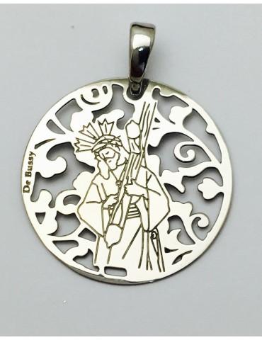Medalla plata de ley Cristo del Gran Poder