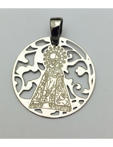 Medalla Virgen Desamparados Plata ley 925m 25mm
