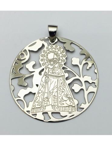 Medalla Virgen Desamparados Plata ley 925m 40mm