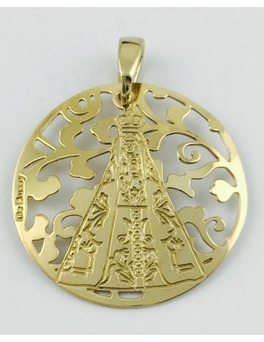 Medalla Nuestra Señora de Begoña Plata Chapada en Oro 25mm