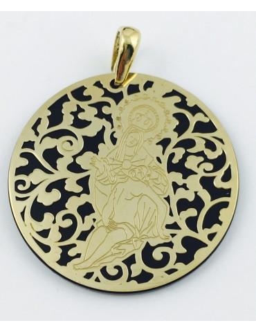 Medalla Virgen Caridad Plata Chapada en Oro