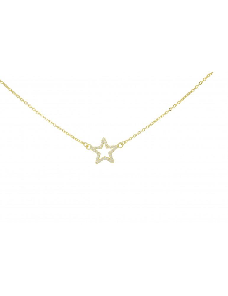 Colgante estrella plata de ley y circonitas