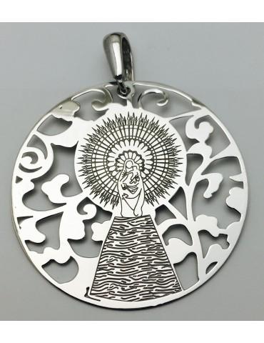 Medalla Virgen Pilar en Plata de Ley  40mm