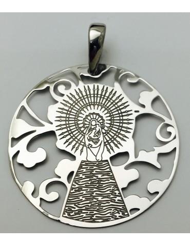 Medalla Virgen Pilar en Plata de Ley 35mm