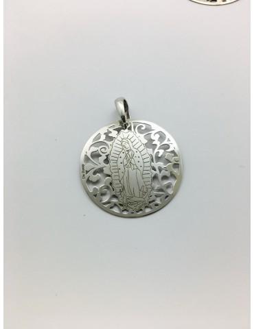 Medalla Virgen de Guadalupe (México) en Plata de Ley. 35mm
