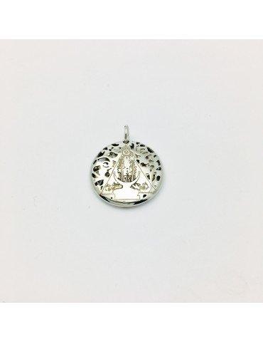 Medalla Virgen Fuensanta en Plata de Ley . 20mm