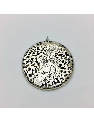 Medalla Virgen Caridad Plata Ley 925m