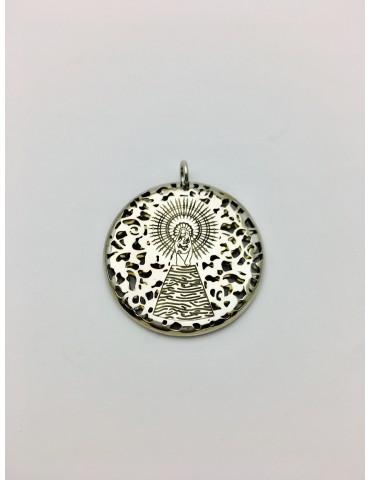 Medalla Virgen Pilar en Plata de Ley 30mm