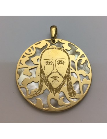 Medalla de La Santa Faz Plata Chapada en Oro