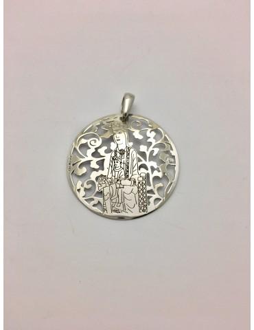 Virgen de Torreciudad plata 35mm