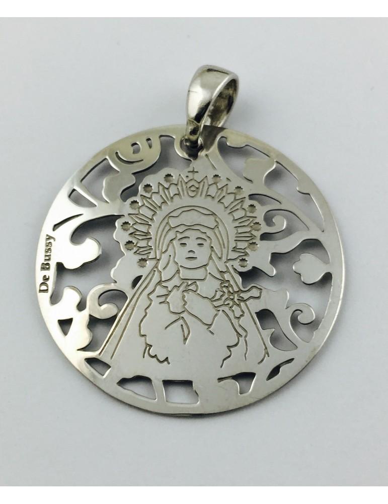 Medalla Virgen de los Dolores en plata de ley