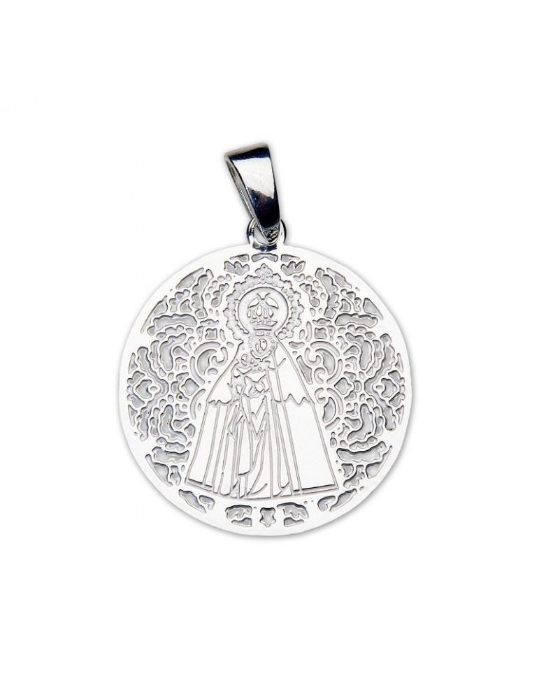 Medalla Virgen del Mar Plata Ley 925m 25mm