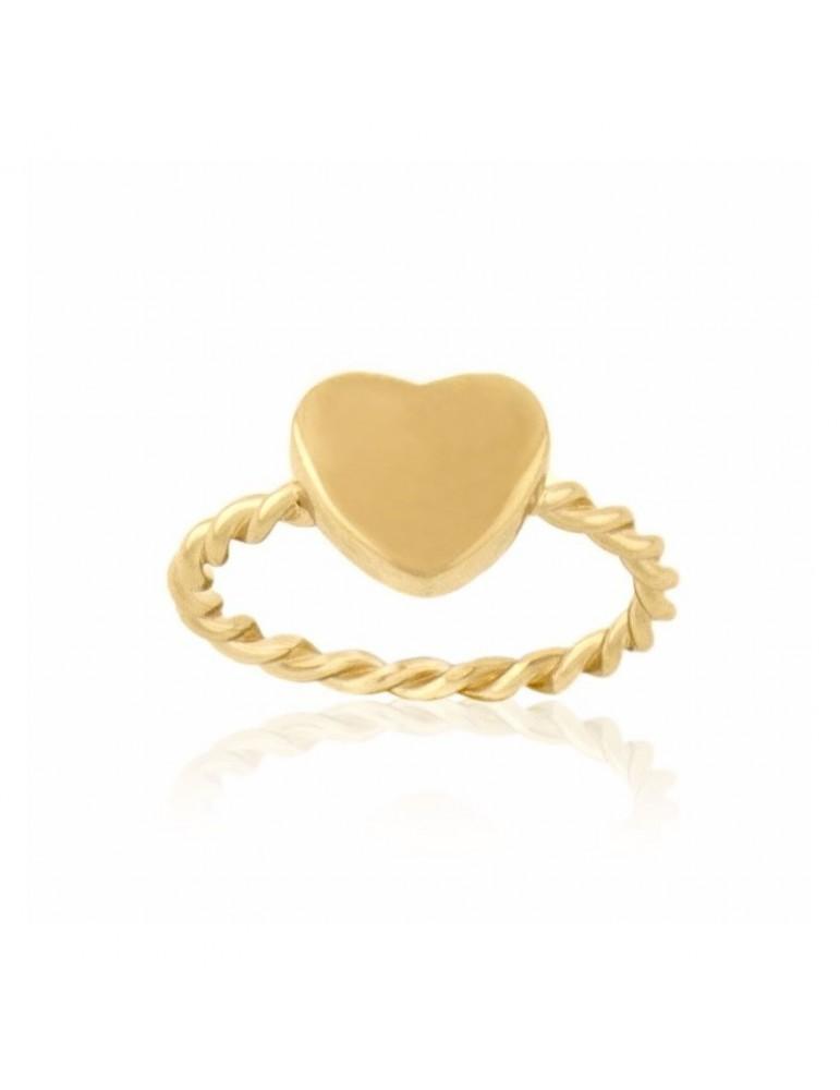 977b9e1fbe82 Anillo De Bussy Colección Ragazza Corazón en plata de ley 925 mm bañado en oro  amarillo de 24 Kt.